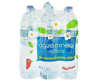Auchan Agua Pack 6 unidades de 1,5 Litros