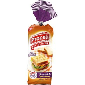 Proceli pan para sandwich sin gluten Envase 400 g