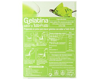 Auchan Gelatina sabor tutti-frutti 170 gramos