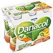 Leche fermentada desnatada con edulcorantes, esteroles vegetales añadidos y frutas exóticas 6 x 100 g Danacol Danone