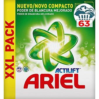 Ariel Detergente máquina polvo con Actilift original Maleta 63 cacitos