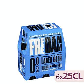 Free Damm Cerveza sin alcohol Pack de 6 x 25 cl