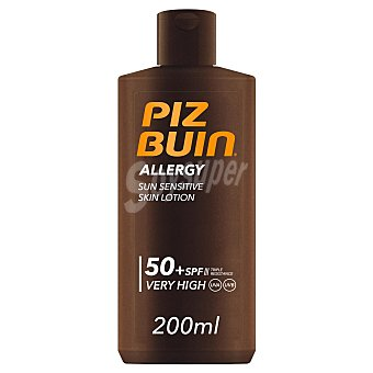PIZ BUIN Allergy Protección solar con factor protección 50+ (muy alto), especial pieles sensibles 200 ml