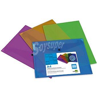 BEAUTONE 29317 Pack 4 unidades dossier en colores surtidos Pack 4 unidades