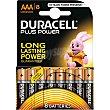Pila plus power alcalina AAA (lr3 - mn2400) 1,5 voltios blister 8 unidades 8 unidades Duracell
