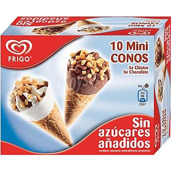 Frigo Minicono de helado de nata y chocolate sin azúcares añadidos estuche 480 ml 10 unidades