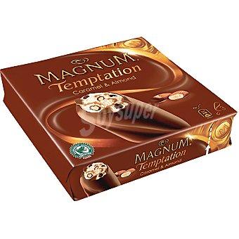Frigo Magnum Helado de vainilla con chocolate caramelo y almendras Temptation Caramel&Almond 3 unidades estuche 240 ml 3 unidades
