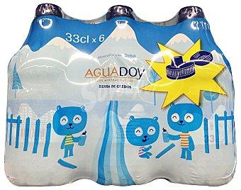 Aguadoy Agua mineral natural (tapón especial niños) 6 unidades de 330 cc (1980 cc)