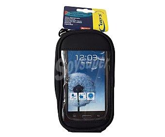 CUP´S Soporte de Smartphones para bicicletas, 100% impermeable, con control táctil y conexión para cascos, hasta 4,5 pulgadas de pantalla 1 unidad