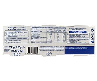 Auchan Atún claro en aceite de girasol Pack 3 unidades de 52 gramos