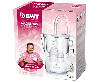 Bwt Jarra purificadora de agua mediante filtro con capacidad BWT Magnesium Mineralizer 2,6 litros