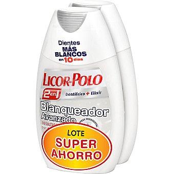 Licor del polo Dentífrico con elixir 2 en 1 blanqueante lote súper ahorro Pack 2 tubo 75 ml