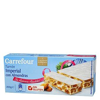 Carrefour Turrón imperial con almendras 200 g