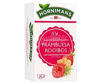 Hornimans Infusión frutal de frambuesa sin teína Caja 20 ud