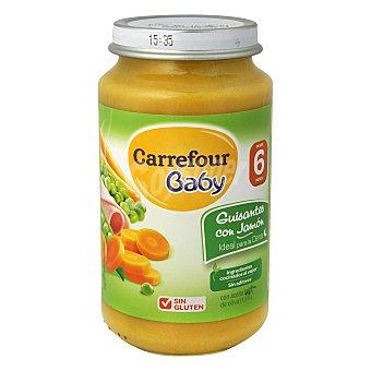 Carrefour Baby Tarrito de guisantes con jamón 250 g