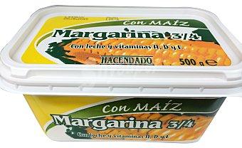 Hacendado Margarina maíz (leche, vitamina a+d+e) Tarrina 500 g