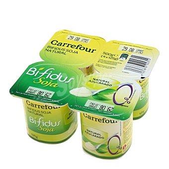 Carrefour Yogur Bífidus 0% con soja Pack de 4x125 g