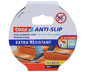 Tesa Cinta antideslizante 5m x 25mm, TESA.