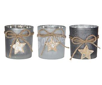 Edelman existencias Portavela para vela del tipo tealight o lúmina, decorado con un cordel del que cuelga una estrella, de 8x75 centímetros y de varios colores )