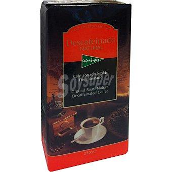El Corte Inglés café descafeinado natural molido paquete 250 g