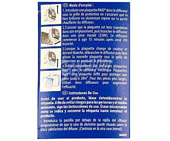 Raid Aparato Insecticida Eléctrico 1 Unidad + 10 Pastillas