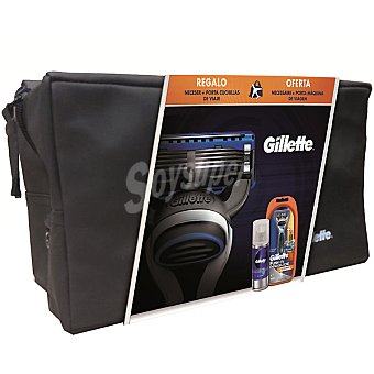 Gillette Pack con maquinilla Power + gel de afeitar + porta...