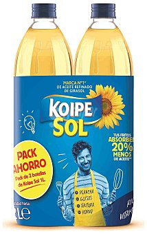 Koipesol Aceite de Girasol Pack 2 x 1 litro