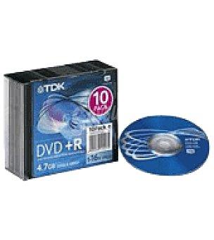Tdk Dvd+r slim 10 16X Unidad