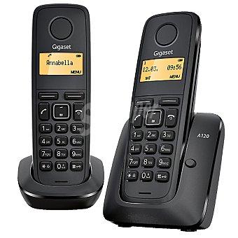 GIGASET Teléfono dúo inalámbrico dect color negro A120