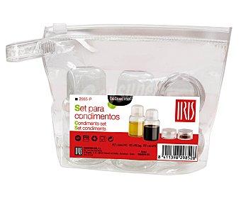 Iris Set de condimentos y especias, incluye bolsa hermética y 4 recipientes 1 unidad