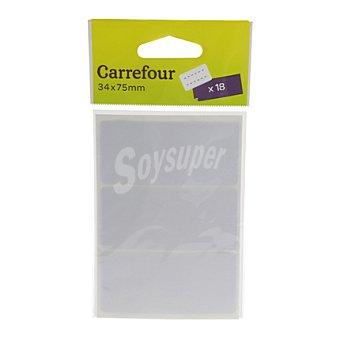 Carrefour Etiquetas Blancas 34x75 mm 18 ud