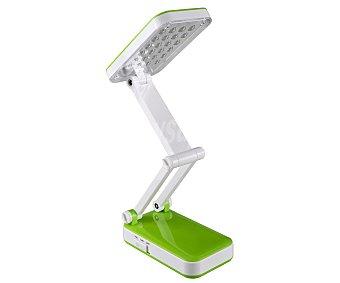 DUPI Flexo compacto color verde para bombillas led de 2 Watios, 30 centímetros 1 unidad