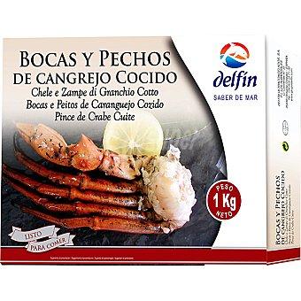 Delfín Bocas y pechos de cangrejo cocido estuche 800 g neto escurrido