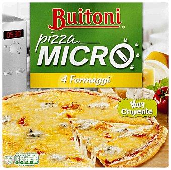 BUITONI MICRO Formaggi pizza 4 quesos con edam emmental mozzarela y gorgonzola especial microondas  estuche 310 g