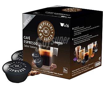 Mepiachi Café espresso de tueste natural en monodosis compatibles con Dolce Gusto (sabor italiano) mepiach 16 unidades