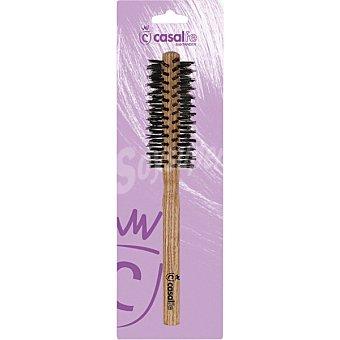 CASALFE Cepillo redondo pequeño madera con cerda de jabali envase 1 unidad Envase 1 unidad
