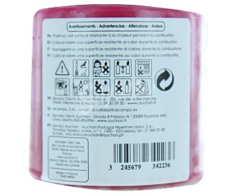 AUCHAN Vela cilíndrica perfumada de 80x80 milímetros y con olor a perfume oriental 1 Unidad
