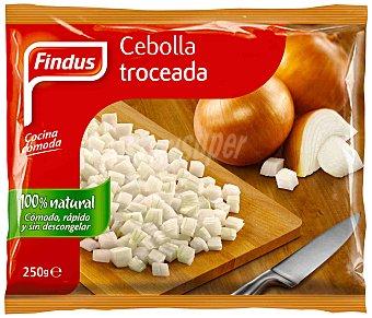 FINDUS Cebolla troceada congelada 100% natural envase 250 g