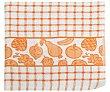 Paño de cocina con estampado de cuadros y frutas color naranja, 380g., 100% algodón, AUCHAN. 380g. Auchan