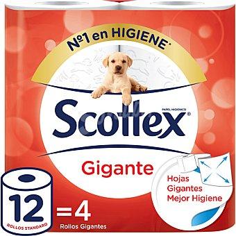 Scottex Papel higiénico Gigante paquete 4 rollos