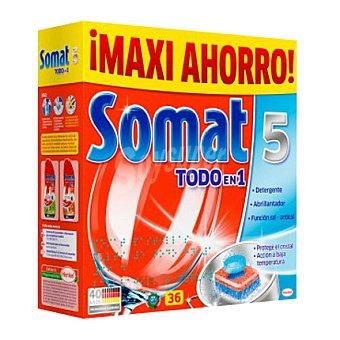 Somat Detergente en pastillas para máquina todo en 1 36 ud
