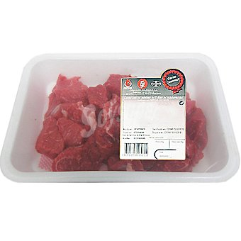 Gourmet Añojo carne magra troceada (estofado) para guisar Bandeja 500 g