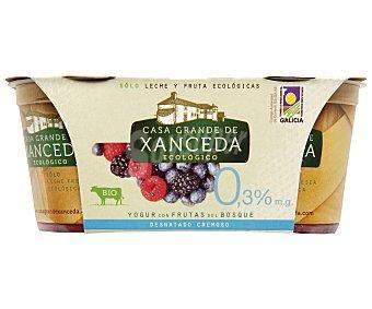 Casa Grande de Xanceda Yogur desnatado cremoso con frutas del bosque pack2 envases 125 g