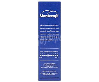 MONTECAFÉ Café descafeinado en monodosis 10 unidades de 50 gramos