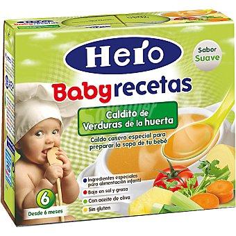 Hero Baby Caldito de verduras de la huerta Recetas pack 2x250 g estuche 500 g