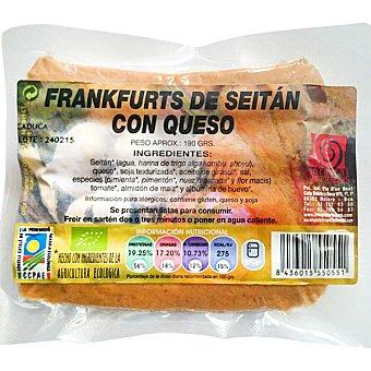 Integral artesans Frankfurt bio de seitán con queso Envase 190 g