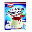 Preparado para Flan de leche Panna Cotta con salsa frambuesa Envase 110 g Dr. Oetker