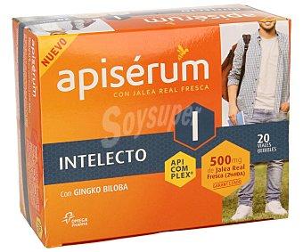 APISÉRUM de Intelecto Complemento alimenticio de jalea real fresca con gingko biloba y vitamina Bs que favorece el rendimiento intelectual normall 500 miligramos