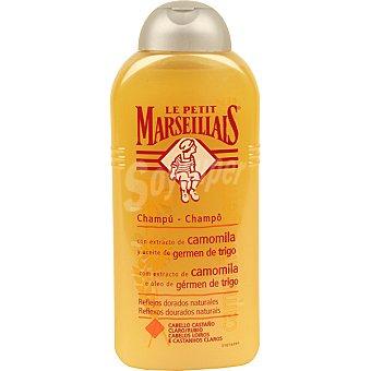 Le Petit Marseillais Champu con extracto de camomila y aceite de germen de trigo reflejos dorados naturales frasco 300 ml Frasco 300 ml