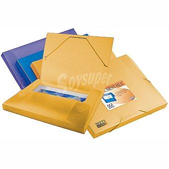 BEAUTONE 25609 Carpeta Din A4 de archivos con cierre de gomas en color naranja frosty